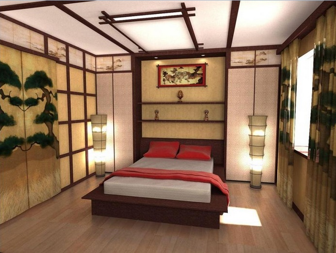 traditional asian bedroom photo - 9