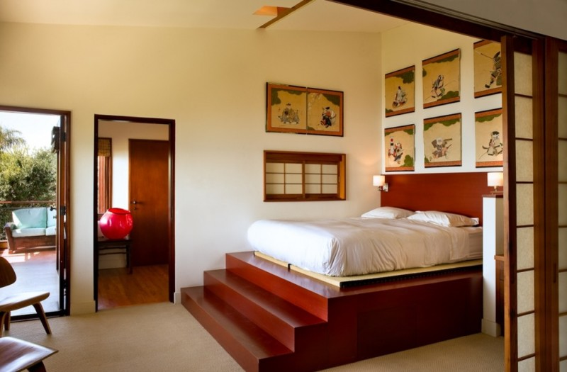 traditional asian bedroom furniture photo - 10