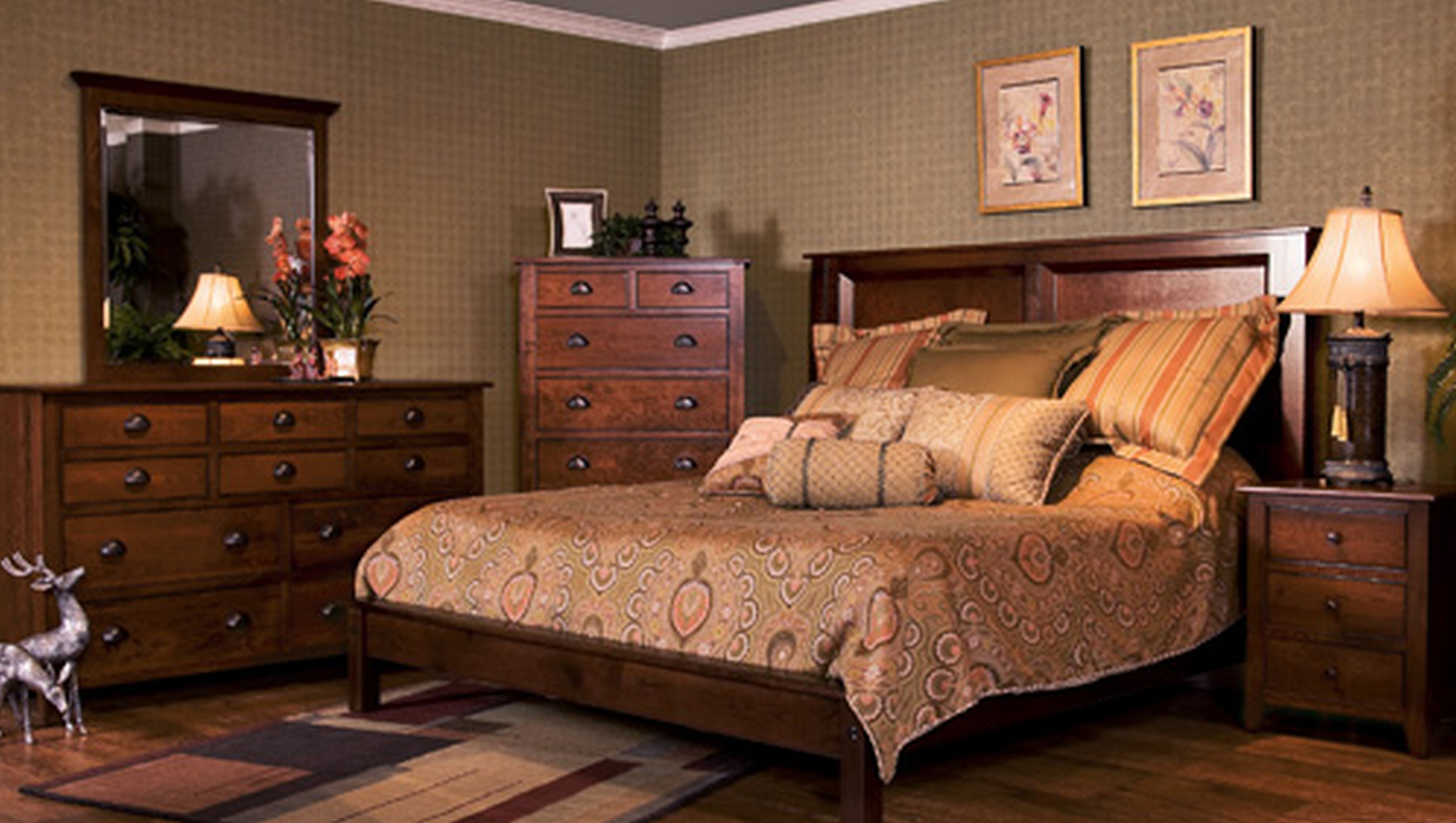traditional asian bedroom furniture photo - 9