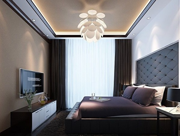 traditional bedroom ceiling light photo - 8