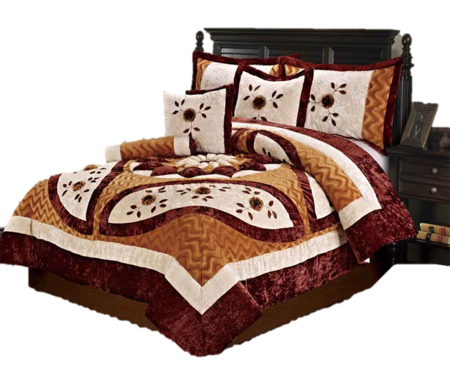traditional bedroom comforter sets photo - 2