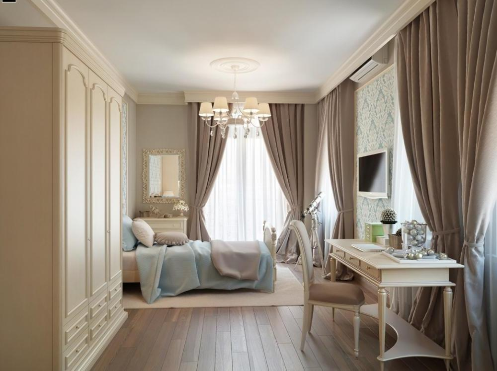 traditional bedroom curtain ideas photo - 2