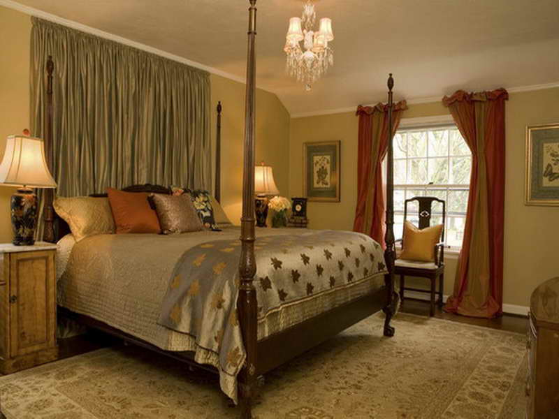 traditional bedroom curtain ideas photo - 3