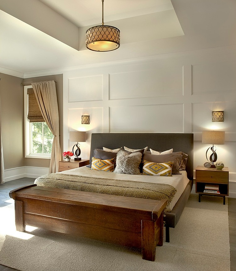 traditional contemporary bedroom design photo - 1