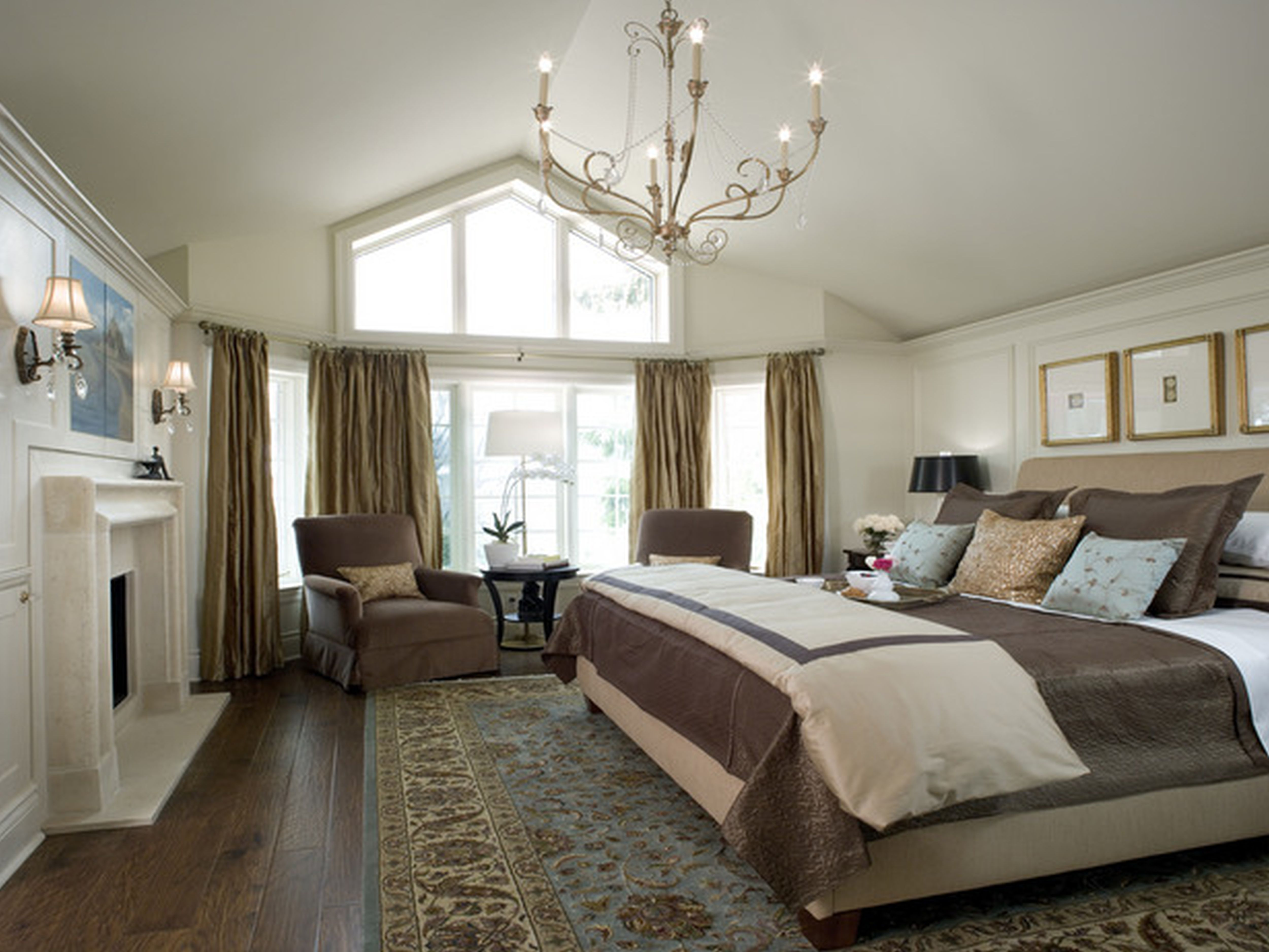 traditional contemporary bedroom design photo - 3