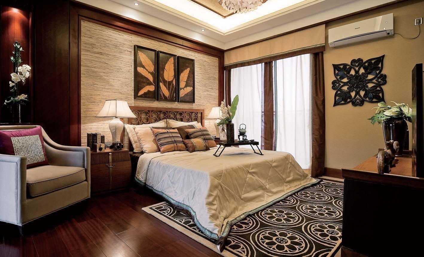 traditional contemporary bedroom design photo - 5
