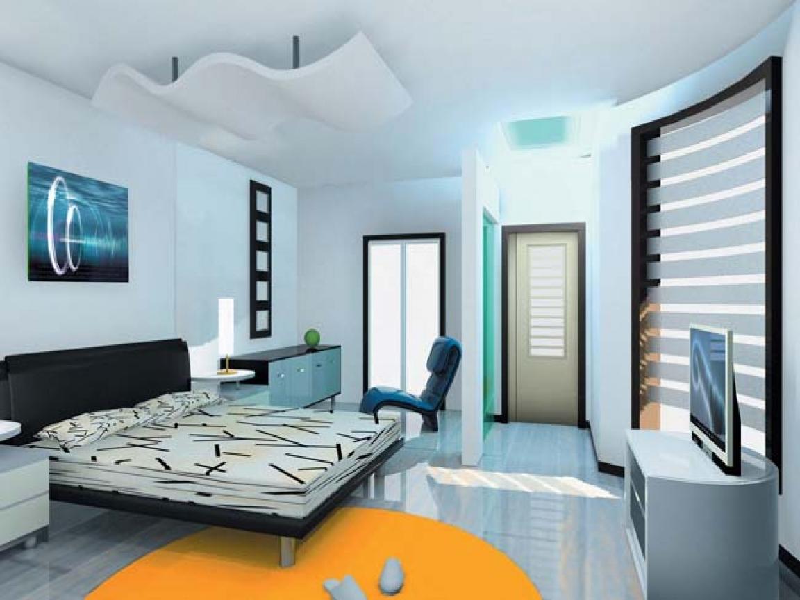traditional contemporary bedroom design photo - 6