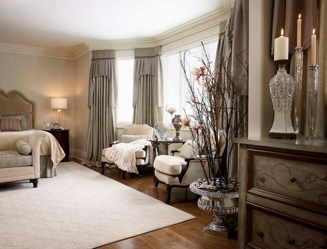 traditional contemporary bedroom design photo - 7