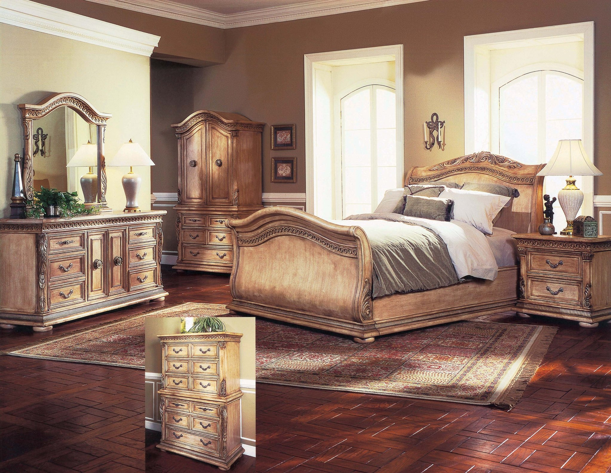traditional designer bedroom furniture photo - 10