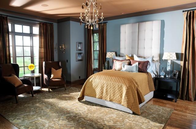 traditional english bedroom design photo - 5
