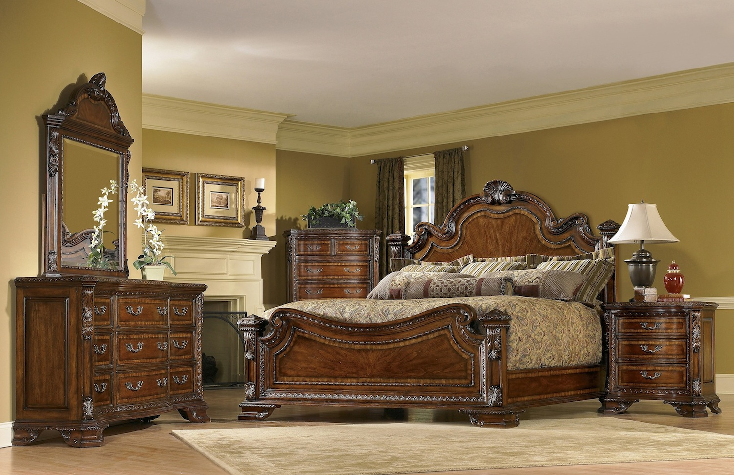 traditional european style bedroom furniture photo - 1