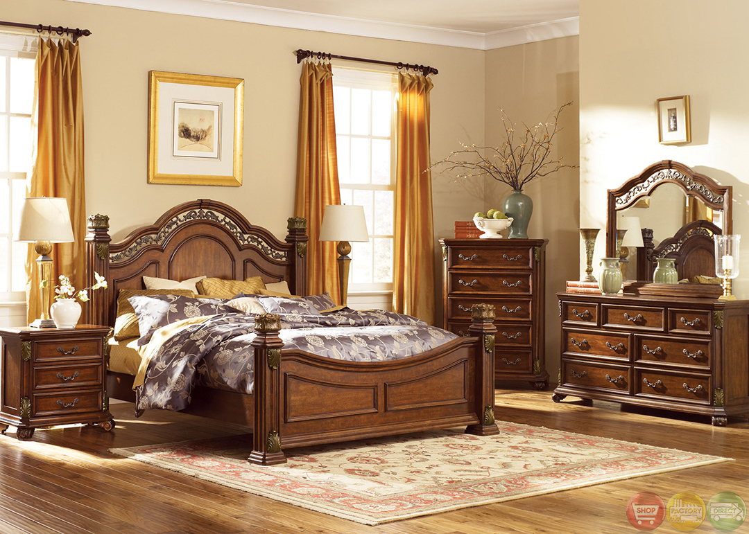 traditional european style bedroom furniture photo - 3