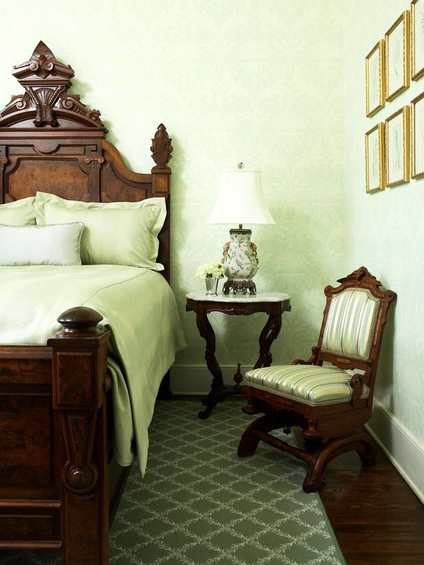 traditional green bedroom photo - 3