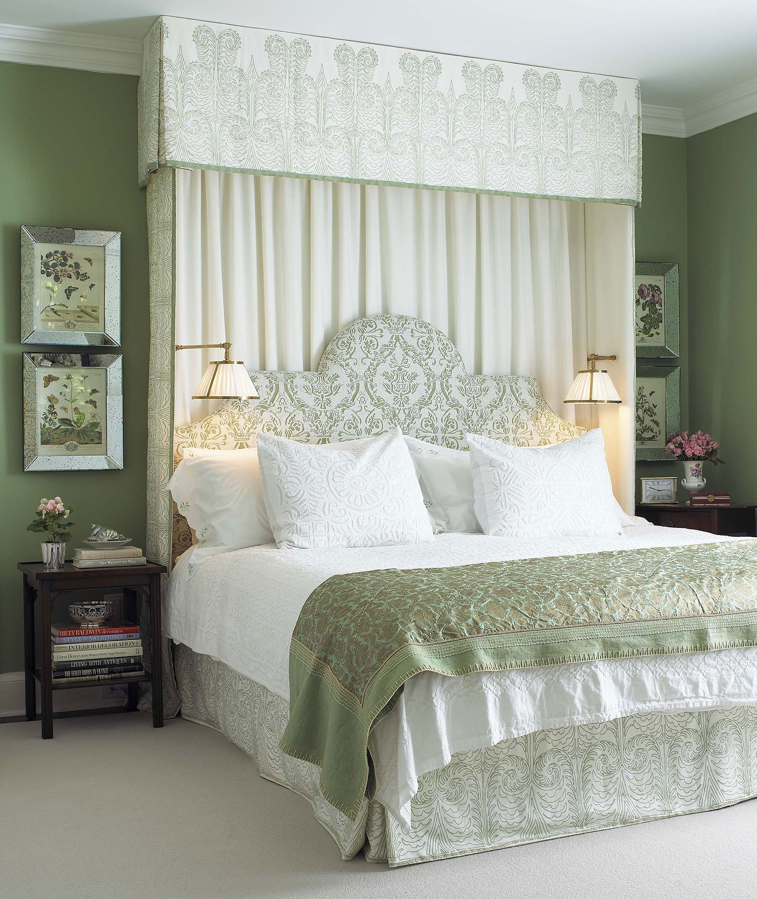 traditional green bedroom photo - 4