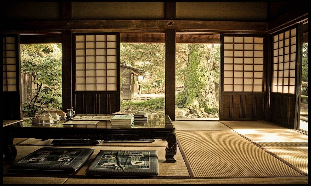 traditional japanese house interior photo - 2
