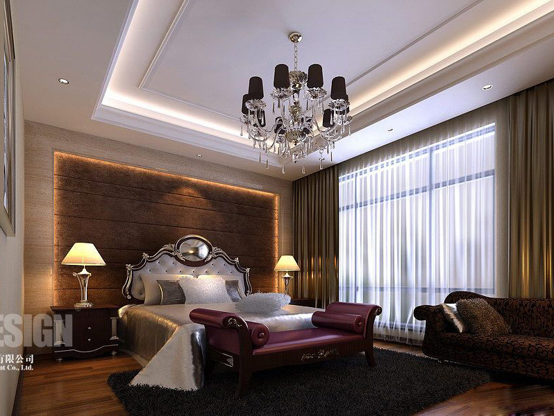 traditional modern bedroom decorating photo - 4