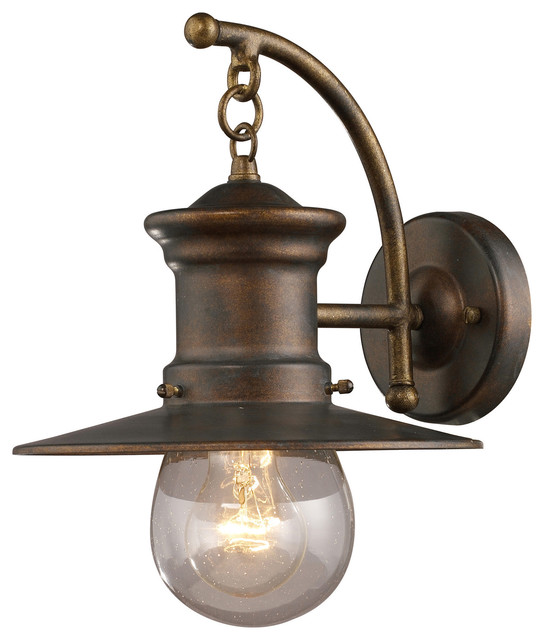 traditional outdoor wall lighting photo - 9