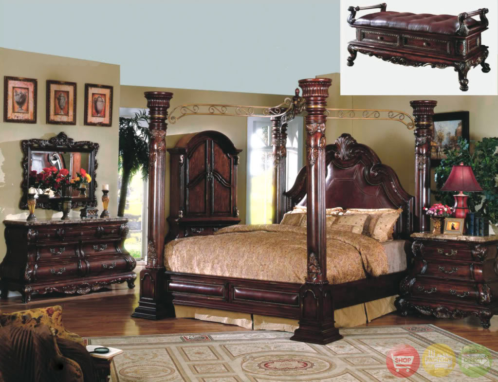 traditional poster bedroom sets photo - 10