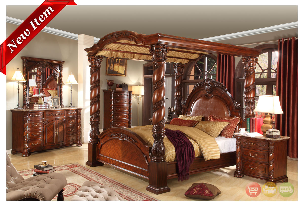 traditional poster bedroom sets photo - 8