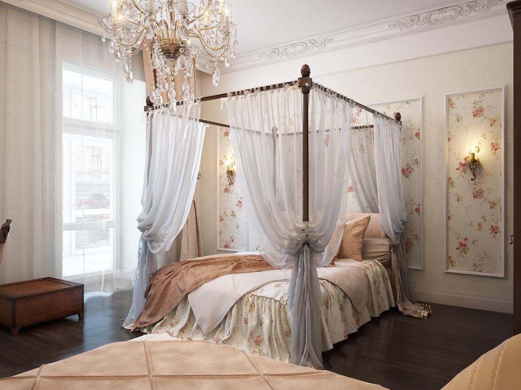 traditional romantic bedroom photo - 1