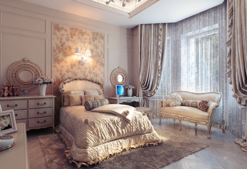 traditional romantic bedroom photo - 10
