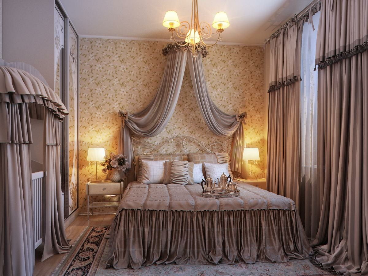 traditional romantic bedroom photo - 7
