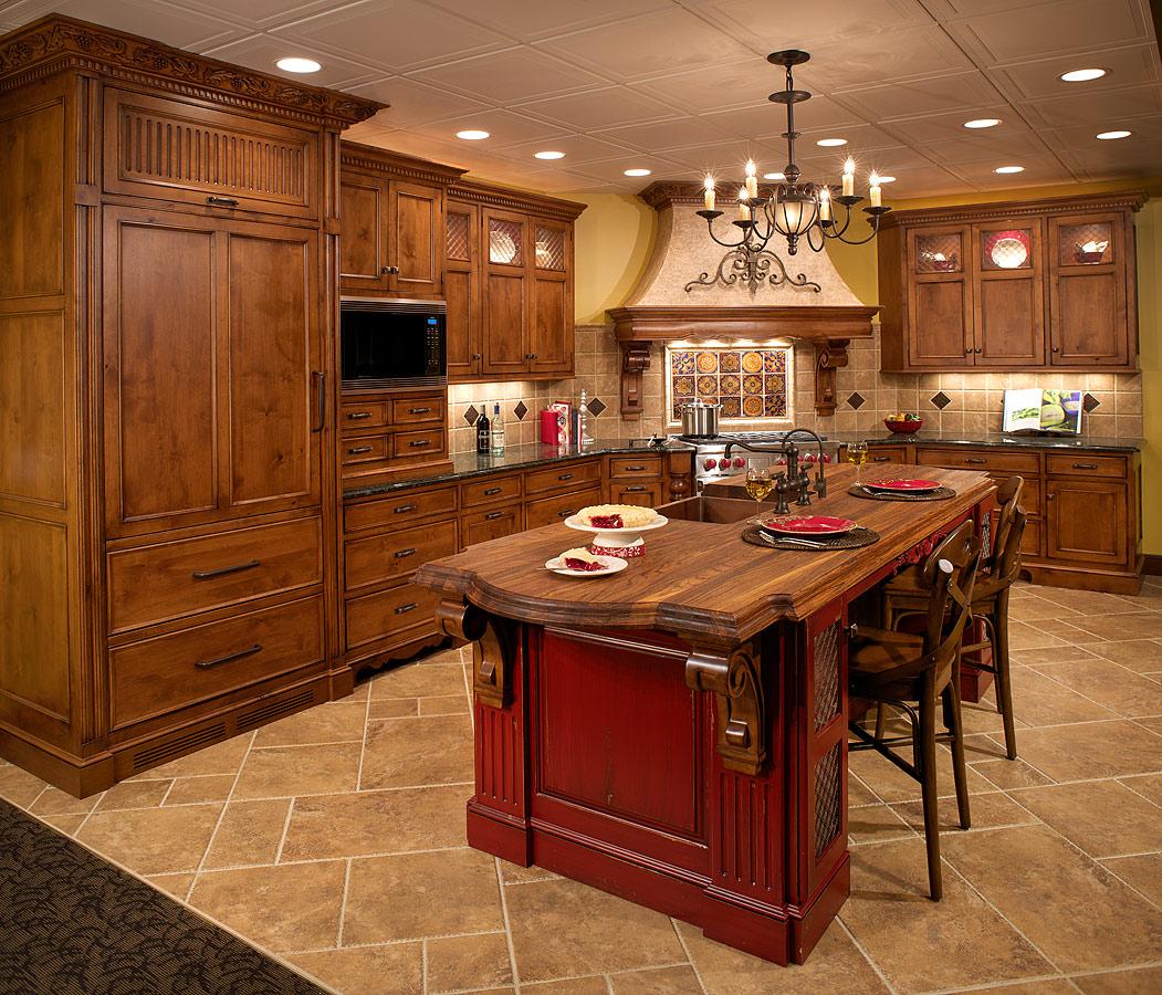 tuscan kitchen cabinets ideas photo - 10