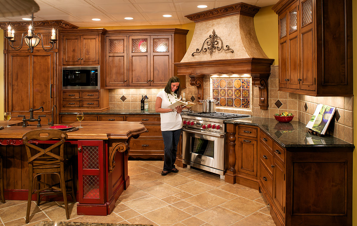 tuscan kitchen cabinets ideas photo - 2