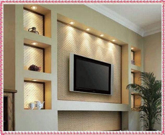 tv wall unit design ideas photo - 1