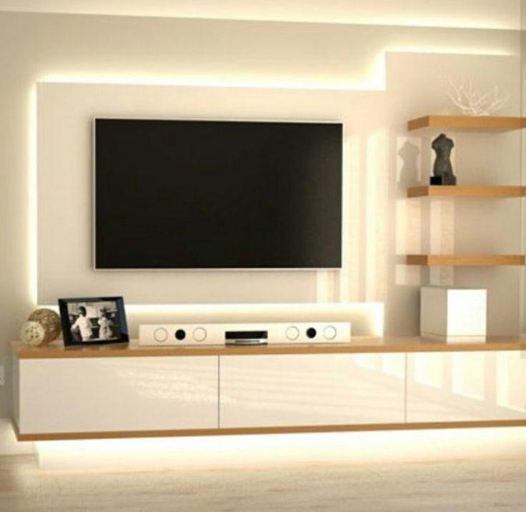 tv wall unit design ideas photo - 3