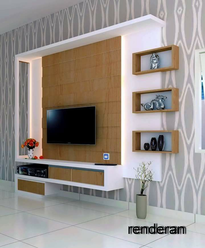 tv wall unit design ideas photo - 6