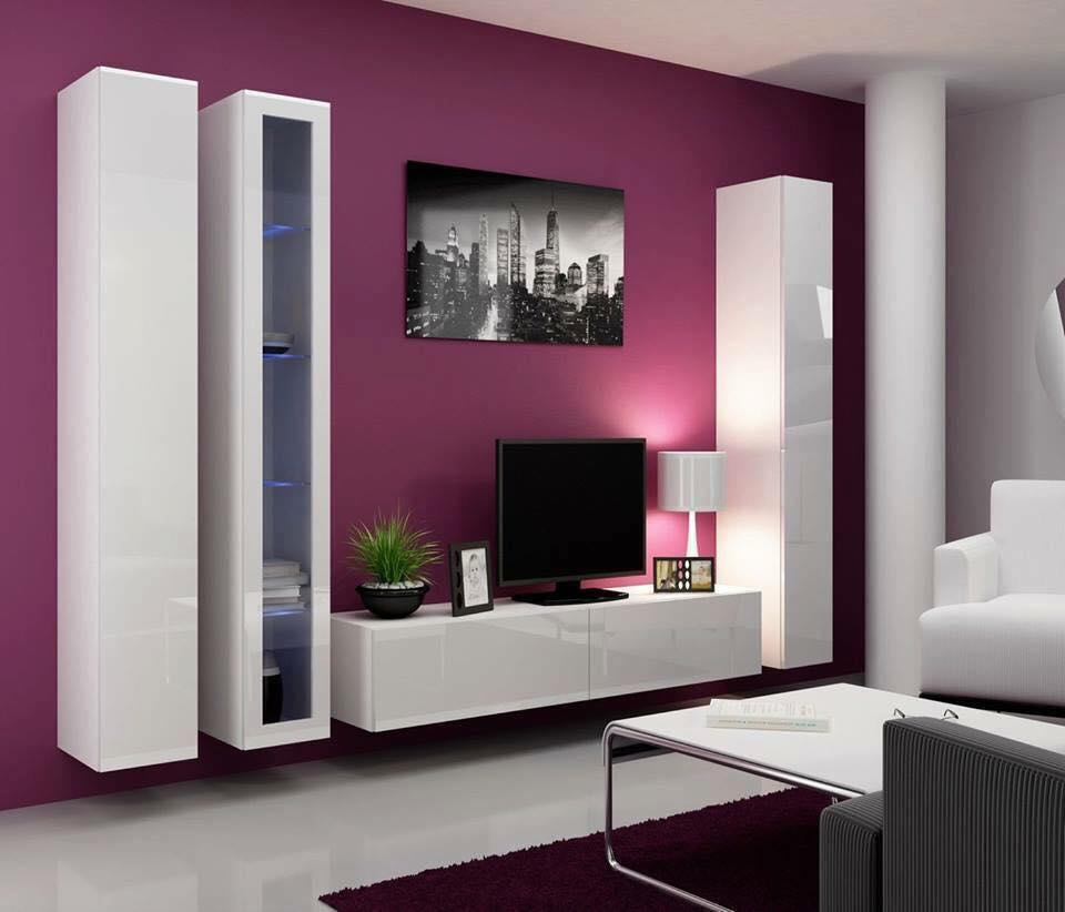 tv wall unit design ideas photo - 9