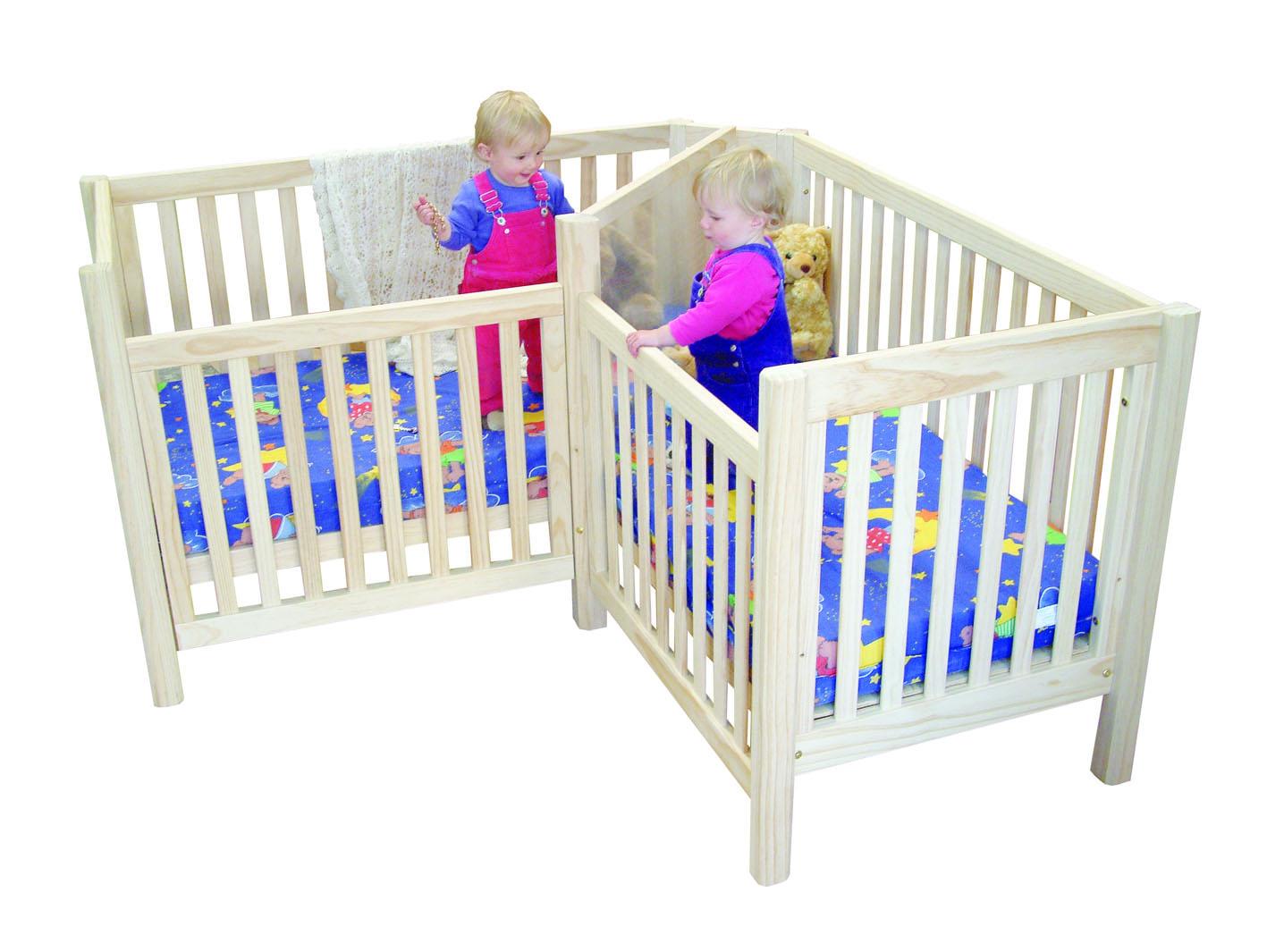 twin baby crib divider photo - 1