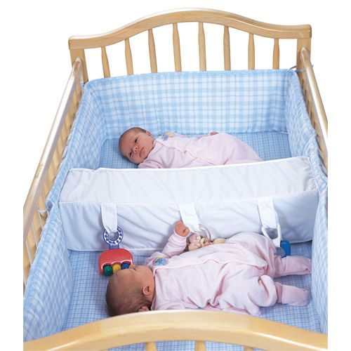 twin baby crib divider photo - 3