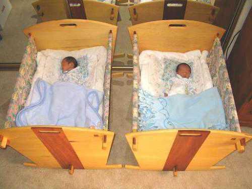 twin baby crib divider photo - 8