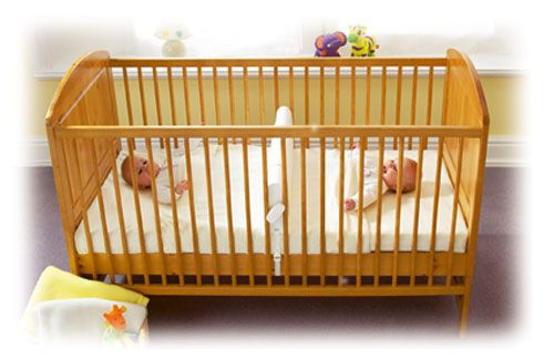 twin baby crib divider photo - 9