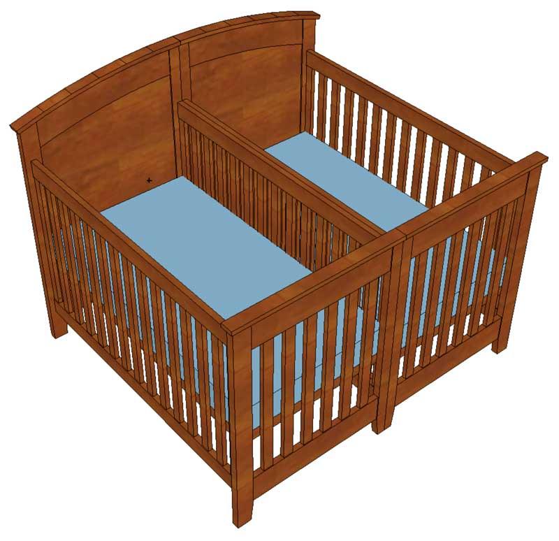 twin baby furniture photo - 3
