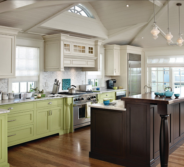 Two Color Kitchen Cabinets Ideas Photo   4