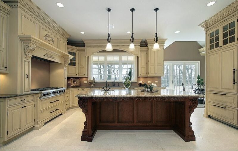 two tone kitchen cabinets ideas photo - 1