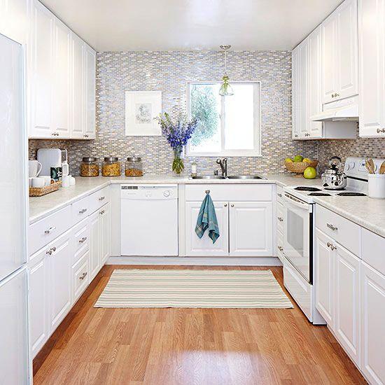 u shaped kitchen appliance layout photo - 7