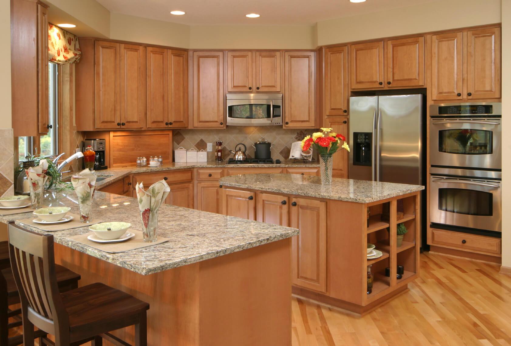 u shaped kitchen appliance layout photo - 9