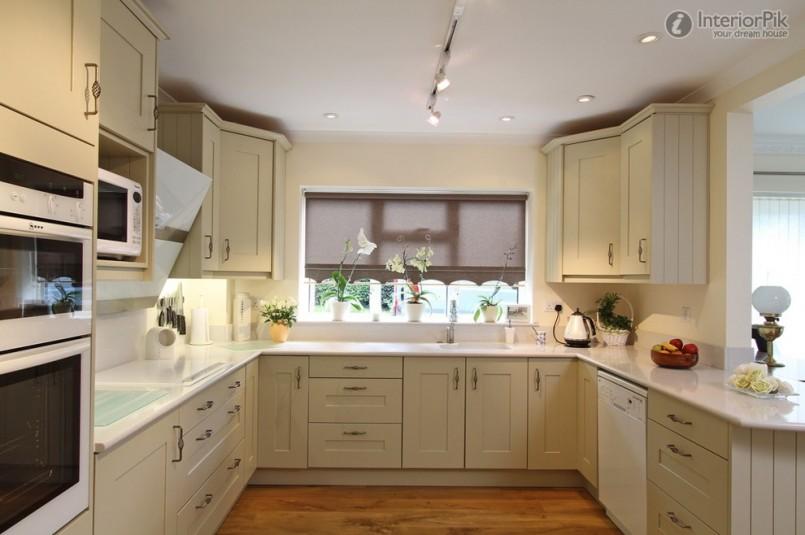 u shaped kitchen cabinet design photo - 4