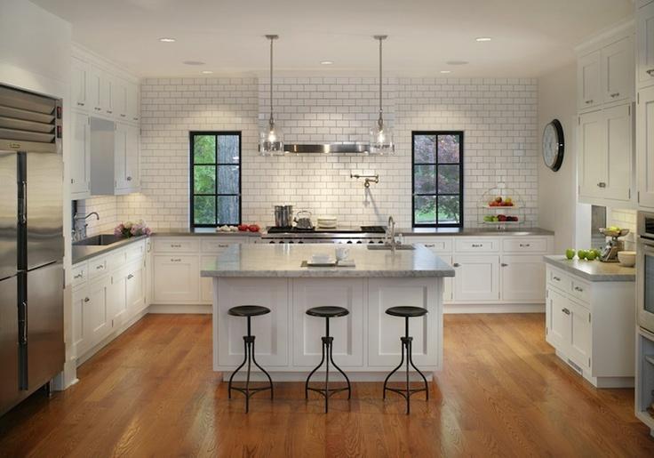 u shaped kitchen cabinet design photo - 8