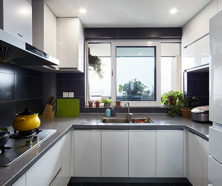 u shaped kitchen cabinets photo - 5