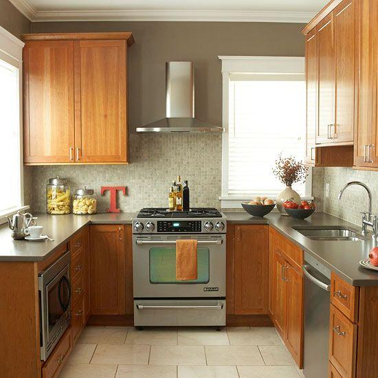 u shaped kitchen cabinets photo - 6