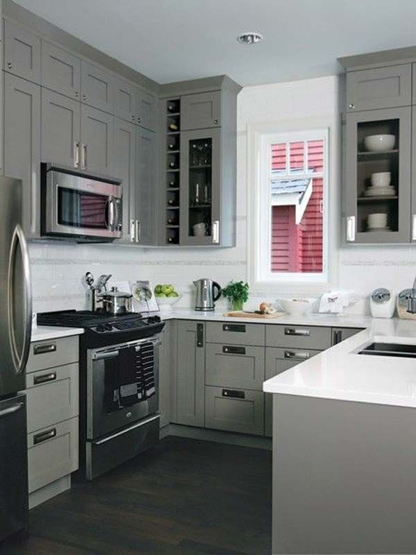 u shaped kitchen cabinets photos photo - 8