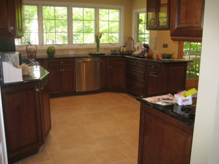 u shaped kitchen corner sink photo - 10