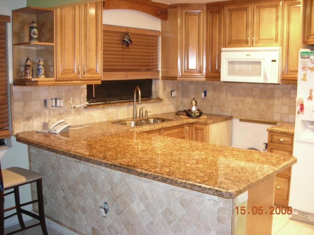 u shaped kitchen counter photo - 7