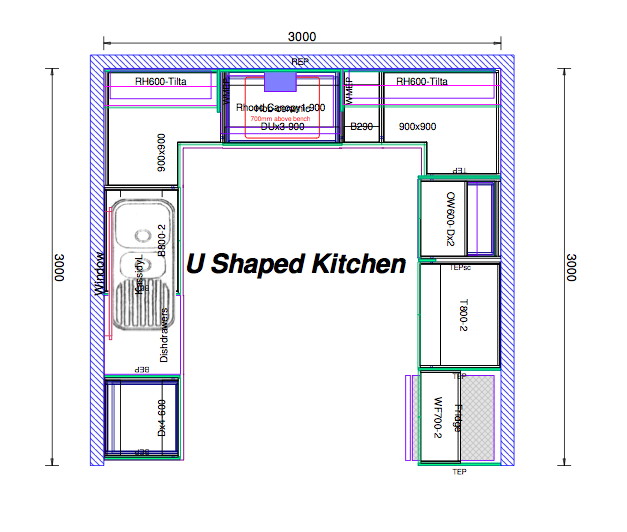 u shaped kitchen floor plans hawk haven
