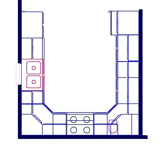 u shaped kitchen floor plans photo - 10